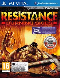 Okładka Resistance: Burning Skies (PSV)