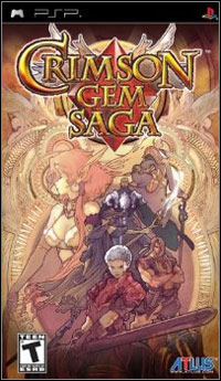 Game Box for Crimson Gem Saga (PSP)