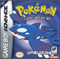 Game Box for Pokemon Sapphire (GBA)