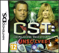 Game Box for CSI: Crime Scene Investigation - Unsolved! (NDS)