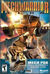 Okładka MechWarrior 4: Clan Mech Pak (PC)