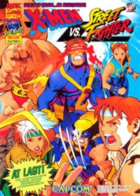 Okładka X-Men vs. Street Fighter (PS1)
