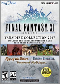 Game Box for Final Fantasy XI: Vana'diel Collection 2007 (PC)