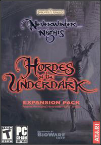 Neverwinter Nights: Hordes of the Underdark (PC cover
