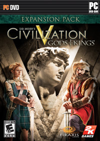 Game Box for Sid Meier's Civilization V: Gods & Kings (PC)