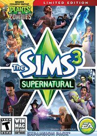 Game Box for The Sims 3: Supernatural (PC)