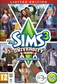 Game Box for The Sims 3: University Life (PC)