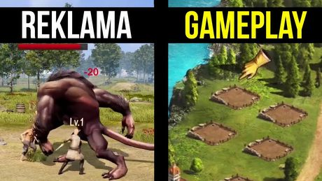 Reklamy gier, które kłamią w żywe oczy