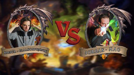 Turniej Hearthstone - Kacper vs Jordan czyli Czarnoksiężnik kontra Mag