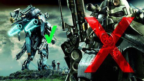 Power Armor kontra Skell – o nagradzaniu gracza w Fallout 4 i Xenoblade